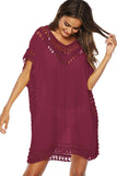 Crochet Insert V Neck Cover-up