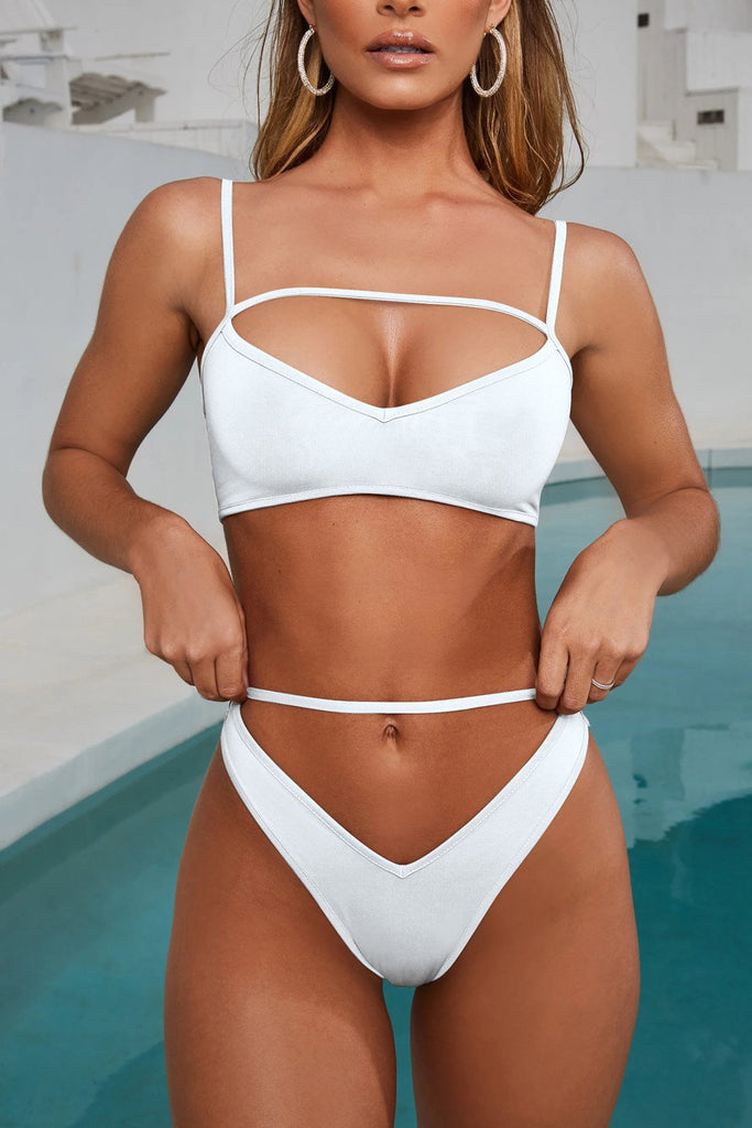 Womens Sexy Halter Thong Bikini Tie Side Bottom Triangle Bikini Swimsuits