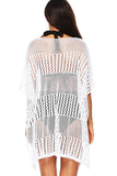 Batwing Sleeve Crochet Beach Cover Up Dress