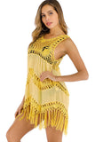 Crochet Fringe Beach Cover Up Dress
