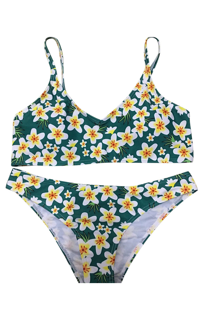 Floral Printing Two-piece Swimwear