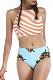 Iyasson Summer Dreams Printing Halter Bikini Set