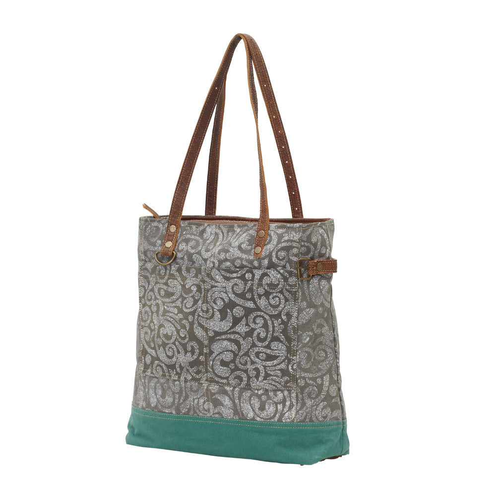 abstract print canvas tote | tote bag, front