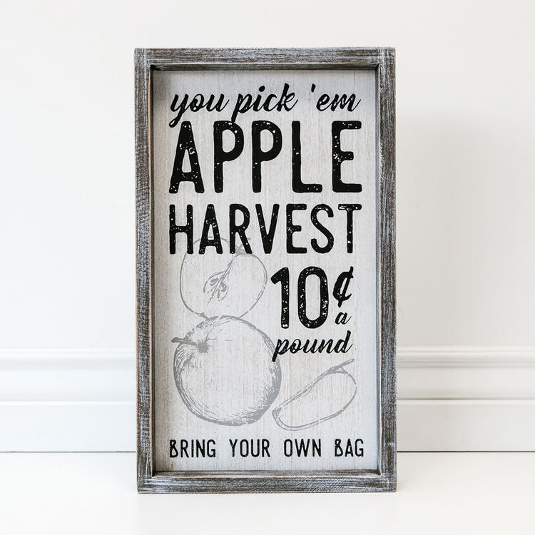 apple harvest wood sign | farmhouse wood kitchen sign