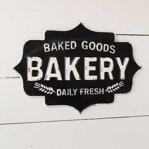 baked goods bakery sign | metal kitchen bakery sign