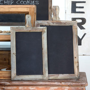 chalkboard message boards with wood frame and handle