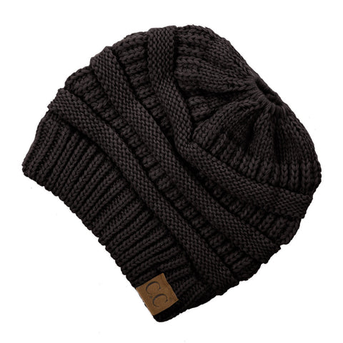 cc beanie messy bun - black | Cotton + Cottage boutique