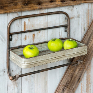 galvanized towel rack