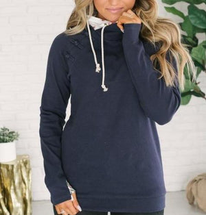 double hooded sweatshirt