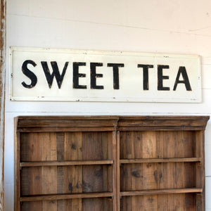 metal sweet tea sign