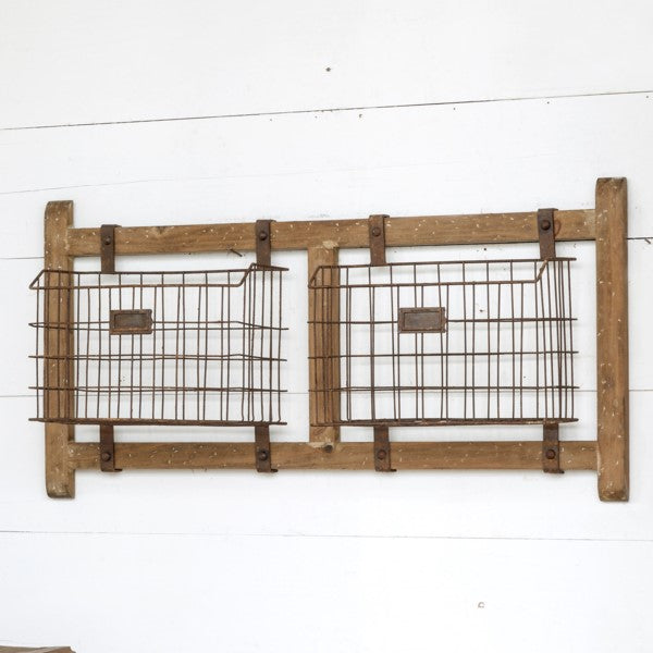 horizontal rack with baskets