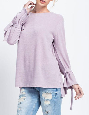 flirty loose gauge knit top