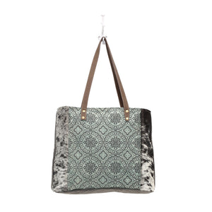 floral chic canvas tote