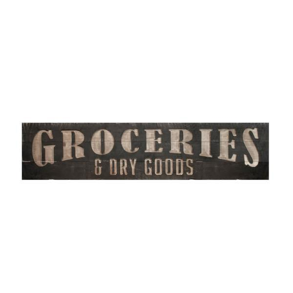 groceries and dry goods sign | farmhouse kitchen decor, in kitchen