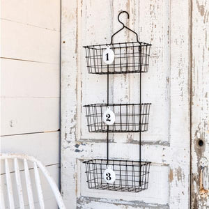 numbered wire wall basket