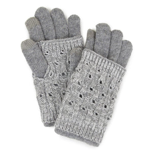 layered gloves - gray | winter accessories | cotton + cottage boutique