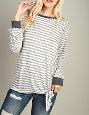 Madison Striped Knit Top