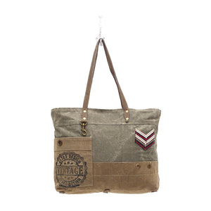 military badge tote