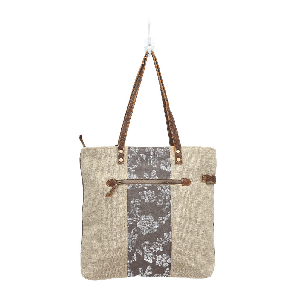 Old Key Linen Tote Bag