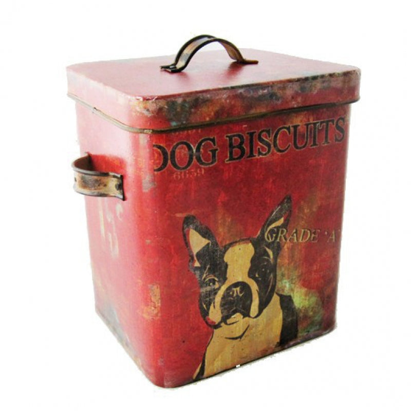 red dog biscuits container