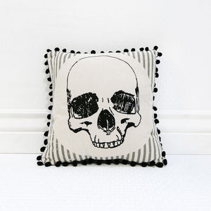 halloween skull pillow