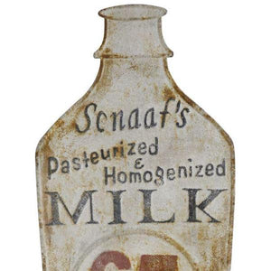 embossed metal milk sign