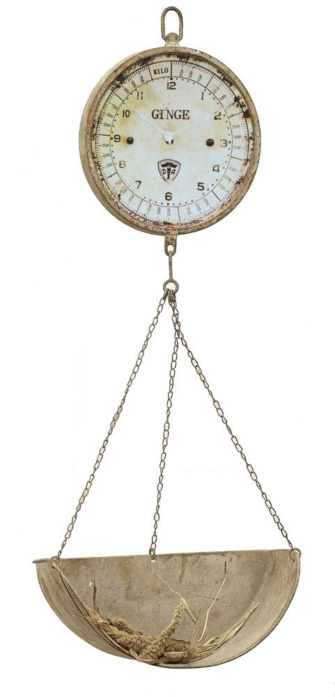 Vintage Hanging Produce Scale Clock