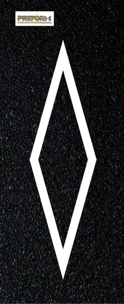 Preformed Thermoplastic Symbols Diamond Design LN HOV 13' Pavement Marking