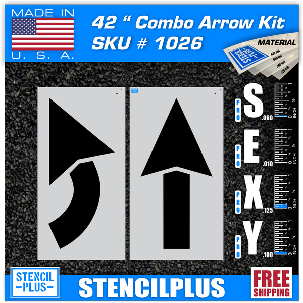 "42"" Arrow Kit 2 pc Parking Lot  Pavement Marking Stencil"
