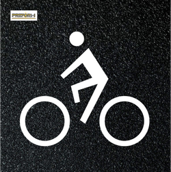Preformed Thermoplastic Bike Lane Symbols Bicycle Design Trail 4'x4' Pavement Marking