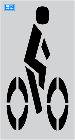"48"" Bike Lane Symbol  Parking Lot Pavement Marking Stencil"