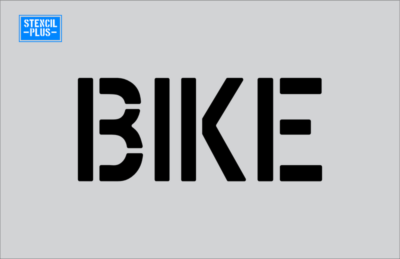 "4"" Word - BIKE  Parking Lot Pavement Marking Stencil"