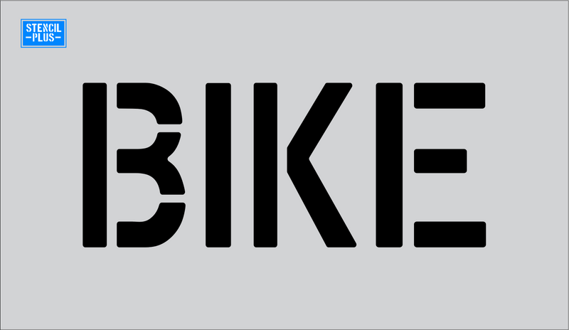 "6"" Word - BIKE Parking Lot Pavement Marking  Stencil"