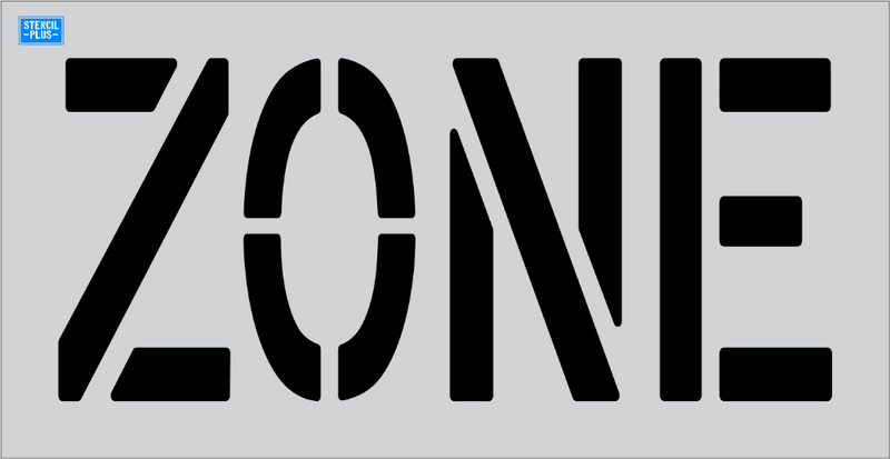 "18"" Word - ZONE Parking Lot Pavement Marking Stencil"