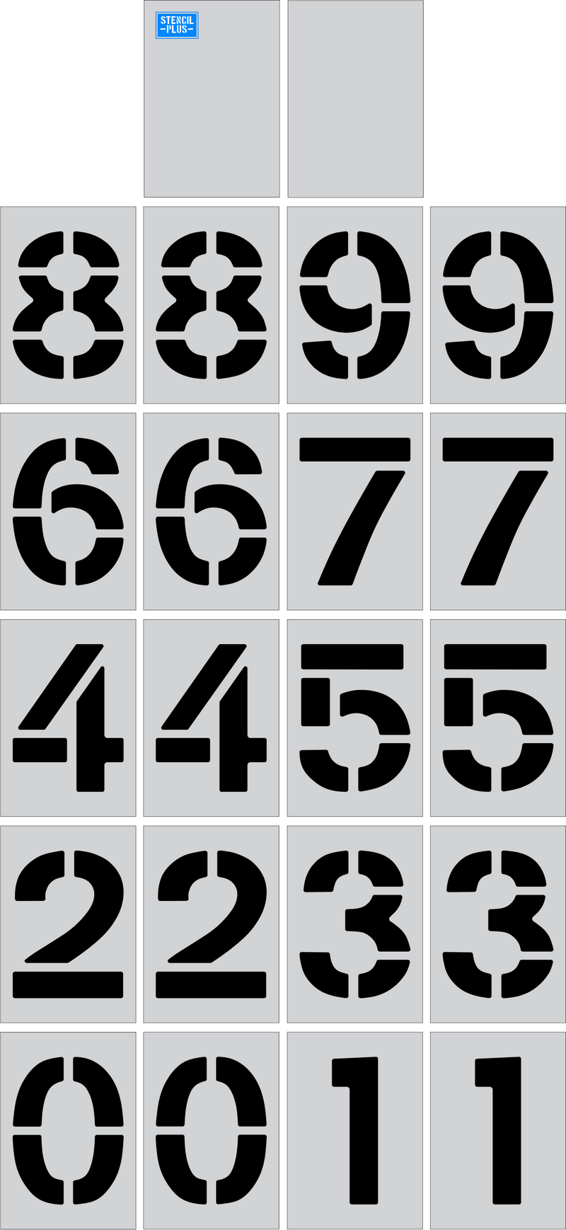 "36"" x  12"" Number Kit Parking Lot Pavement Marking Stencil"
