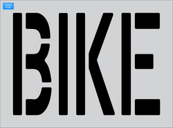 "24"" x 9"" Word - BIKE Parking Lot Pavement Marking Stencil"