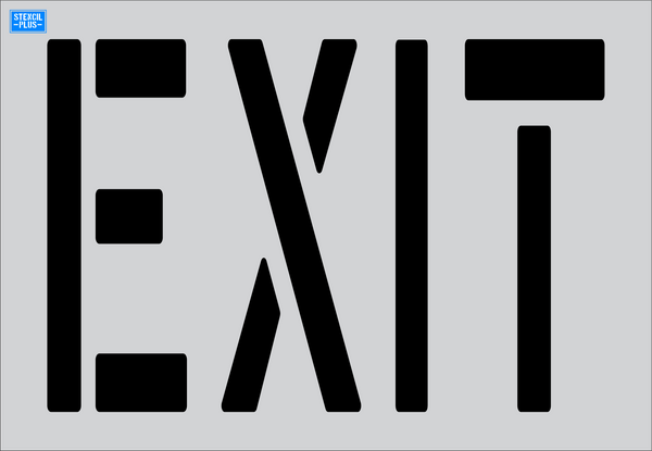 EXIT Parking Lot / Pavement Marking Stencil