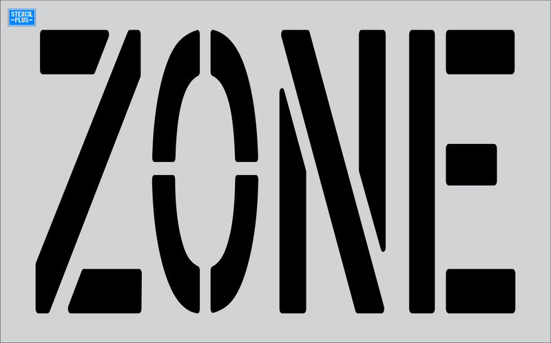 "24"" x 9"" Word - ZONE Parking Lot Pavement Marking Stencil"