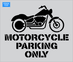 "35"" Motorcycle Parking Only  Parking Lot Pavement Marking Stencil"