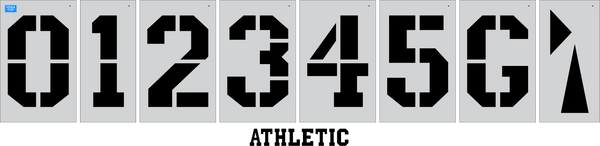 "36"" x 24"" Football Field Number Kit Athletic Field Stencil Track and Field stencil"