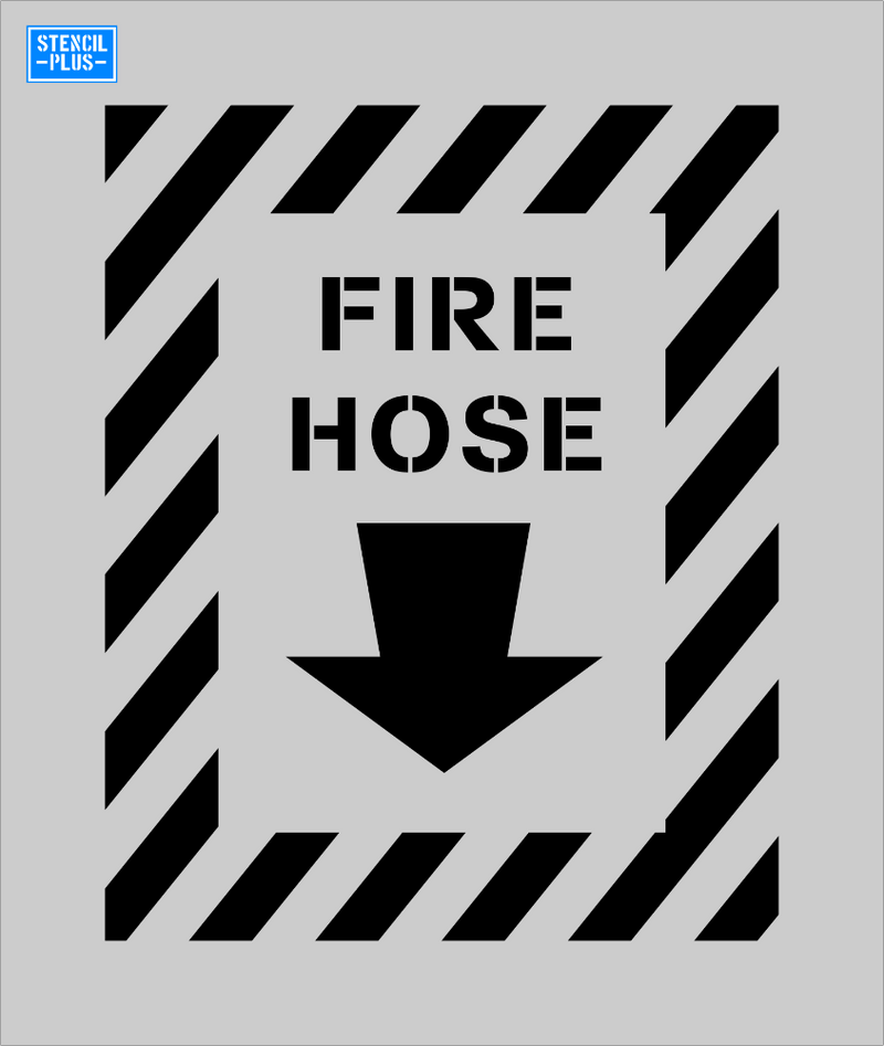 FIRE HOSE with Downward Arrow Warehouse Industrial Safety OSHA Stencil