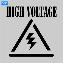 HIGH VOLTAGE Symbol Safety Warehouse Industrial Safety OSHA Stencil
