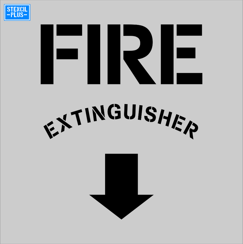 FIRE EXTINGUISHER Warehouse Industrial Safety OSHA Stencil
