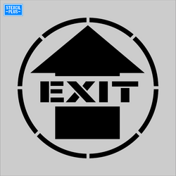 EXIT Arrow Symbol Safety Warehouse Industrial Safety OSHA Stencil