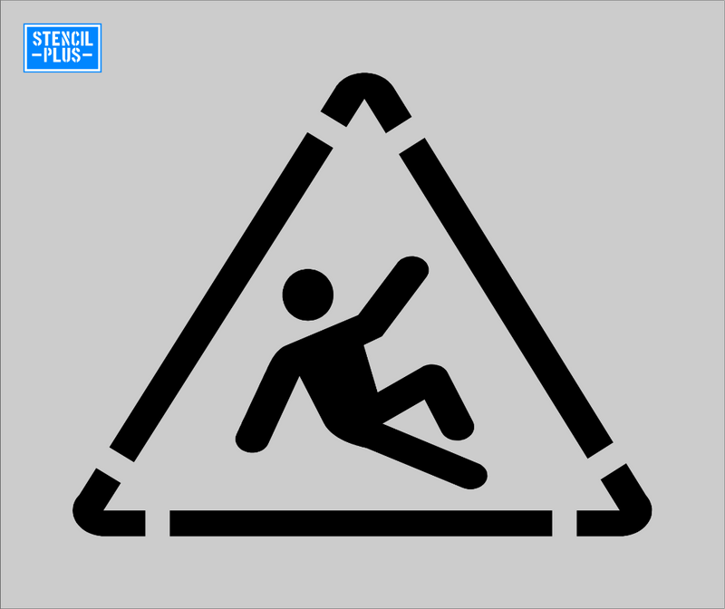 FALL RISK Symbol Warehouse Industrial Safety OSHA Floor Stencil