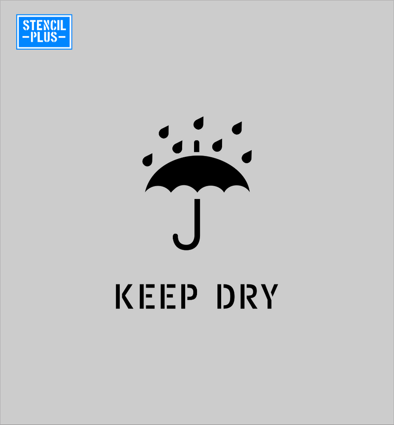 KEEP DRY Symbol Warehouse Industrial Safety Shipping Department Stencil