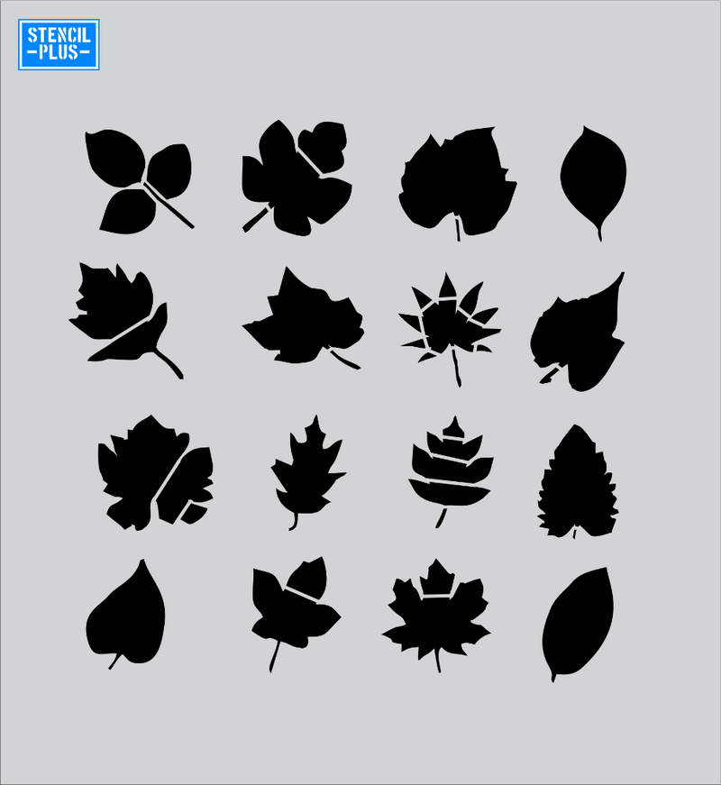 Fall Leaves Stencil with 16 Images Decorative Fall Stencil