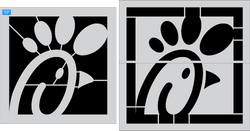 Chick-Fil-A Logo 2 part