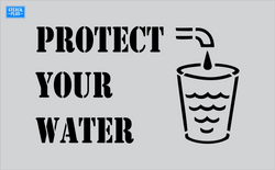 Storm Drain Stencil - Protect Your Water-Cup with Faucet