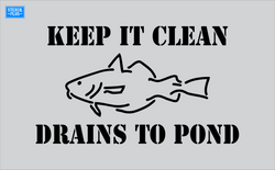 Storm Drain Stencil - Keep It Clean-Fish Image-Drains to Pond